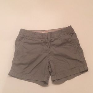 J. Crew Gray Broken In Chino Shorts Size 2